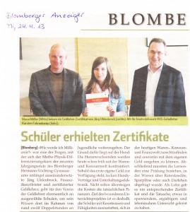 Blomberg 24.04.2013